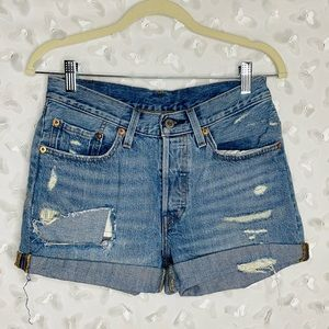 Vintage Levi's Denim Distressed Shorts